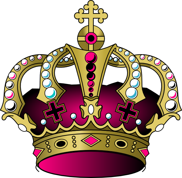 Star crown clipart graphic transparent library Pink Crown Clip Art at Clker.com - vector clip art online, royalty ... graphic transparent library