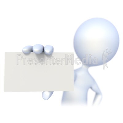 3d clipart for ppt clipart royalty free 3D Figure Holding a Business Card - Signs and Symbols - Great ... clipart royalty free