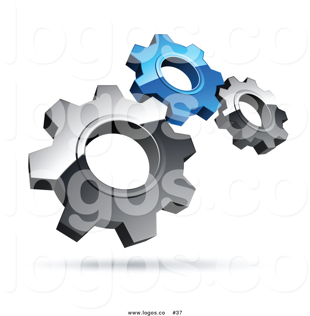 3d clipart gears picture royalty free Royalty Free 3D Vector Logo of Silver and Blue Gears by beboy - #37 picture royalty free