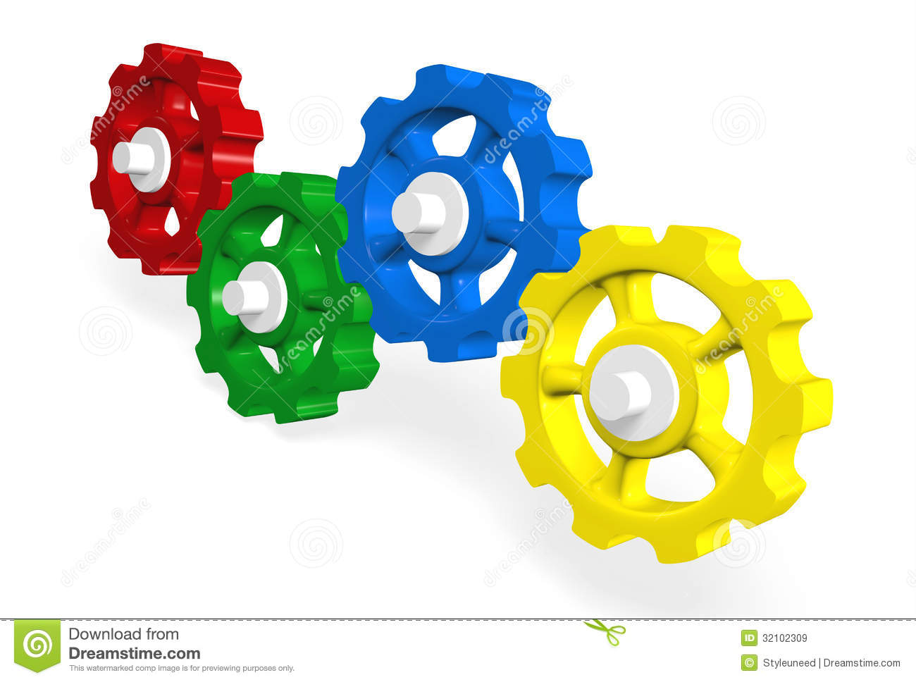 3d clipart gears banner royalty free library Colorful 3D Interlocking Gears Stock Illus #259698 - Clipartimage.com banner royalty free library