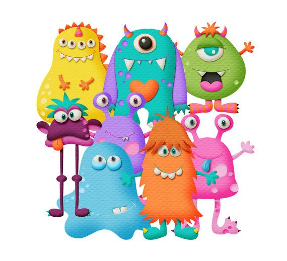 Funny transparent cliparts clip art freeuse Funny little monsters clipart. 8 images with 3D effect and ... clip art freeuse