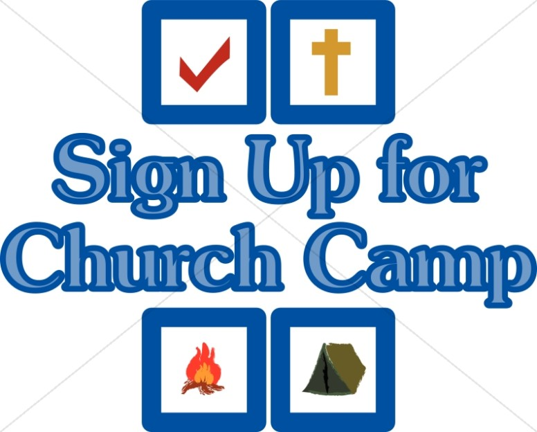 Christian youth camp clipart
