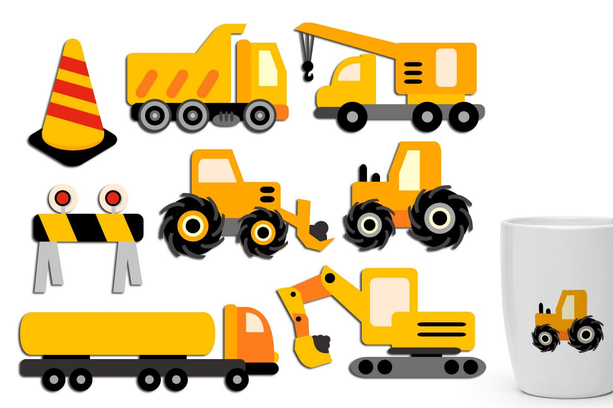 3d construction truck clipart image royalty free Under construction clip art - construction truck crane image royalty free