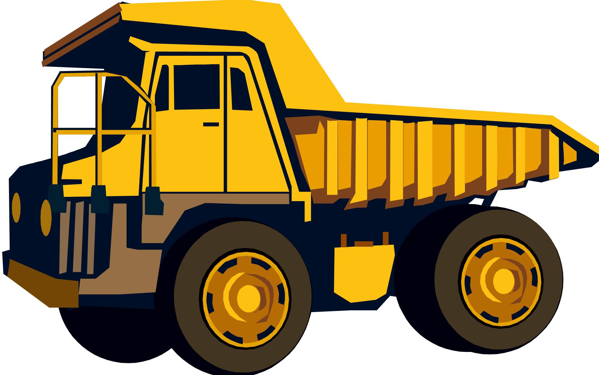 Yellow dump truck clipart banner freeuse Free Images Of Dump Trucks, Download Free Clip Art, Free Clip Art on ... banner freeuse