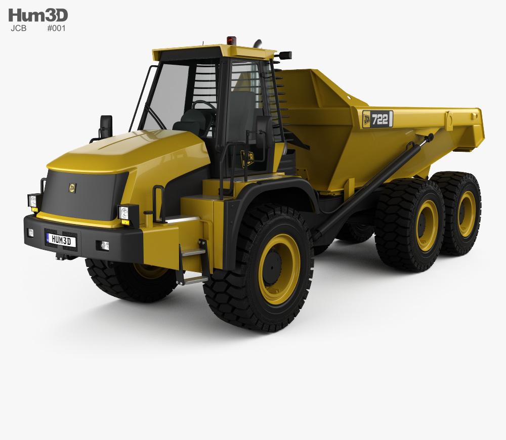 3d construction truck clipart jpg library JCB 722 Dump Truck 2012 3D model jpg library