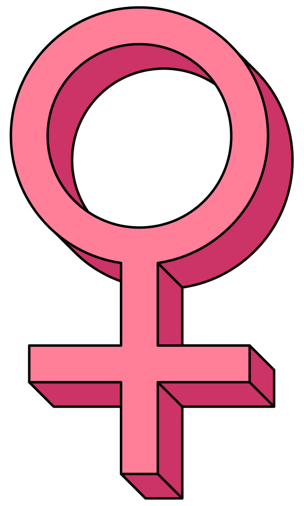 3d cross clipart jpg File:Venus-female-symbol-pseudo-3D-pink.svg - Wikipedia jpg