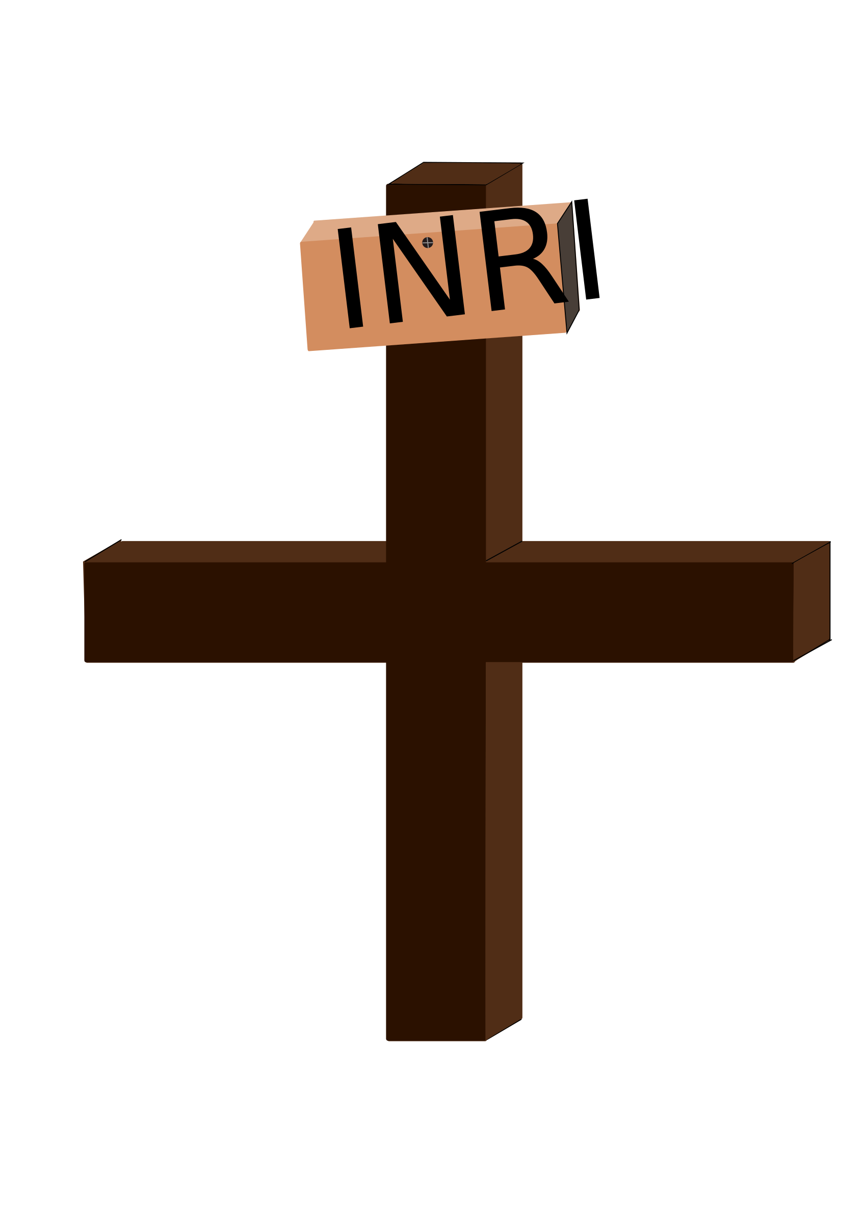 Brown cross clipart svg free Clipart - Jesus on the Cross svg free