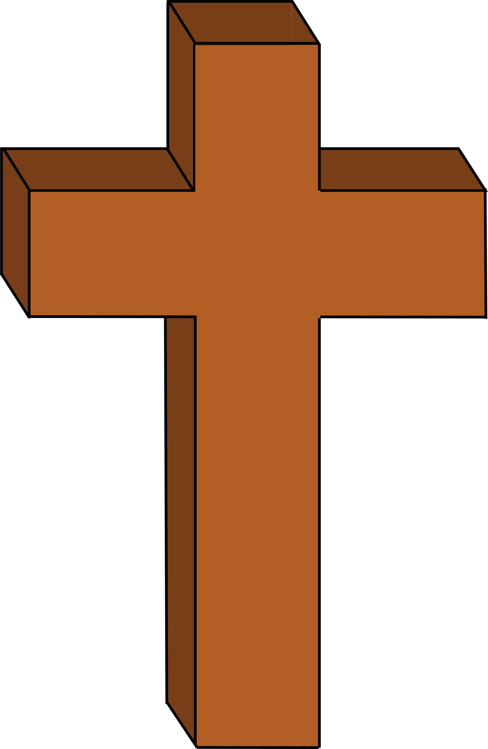 Brown cross clipart