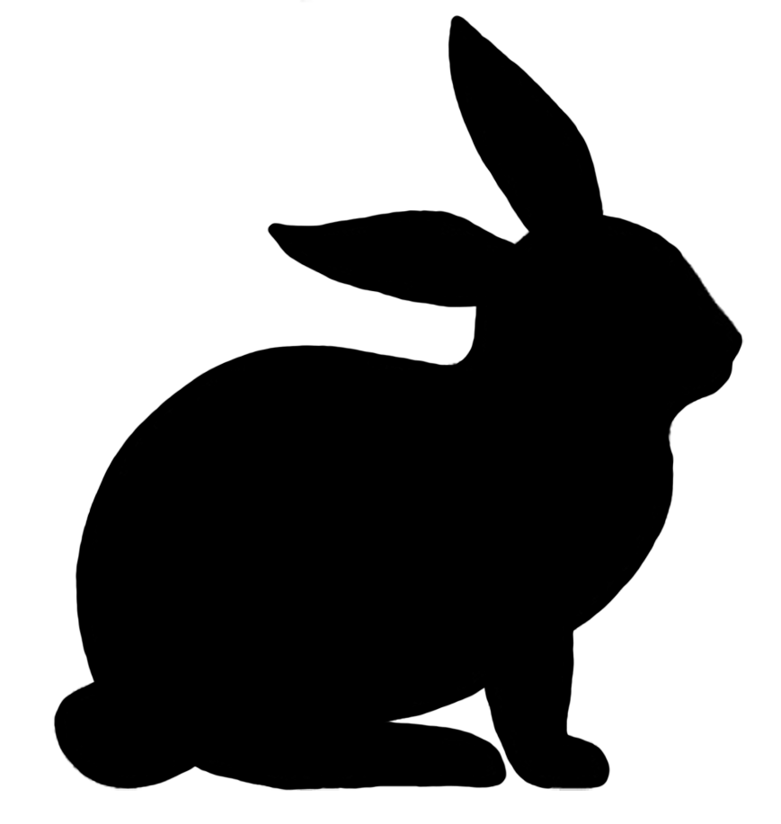 Cat head silhouette clipart clip art transparent rabbit silhouette - Google Search | Bunny Gifts For Rabbit Lovers ... clip art transparent