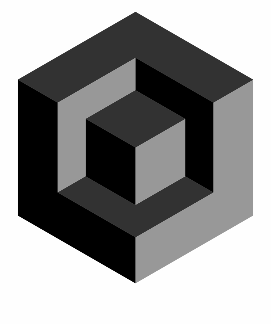 3d cube design clipart royalty free download Cube 3d Recessed Black Gray Png Image - 3d Cube Icon Png Free PNG ... royalty free download