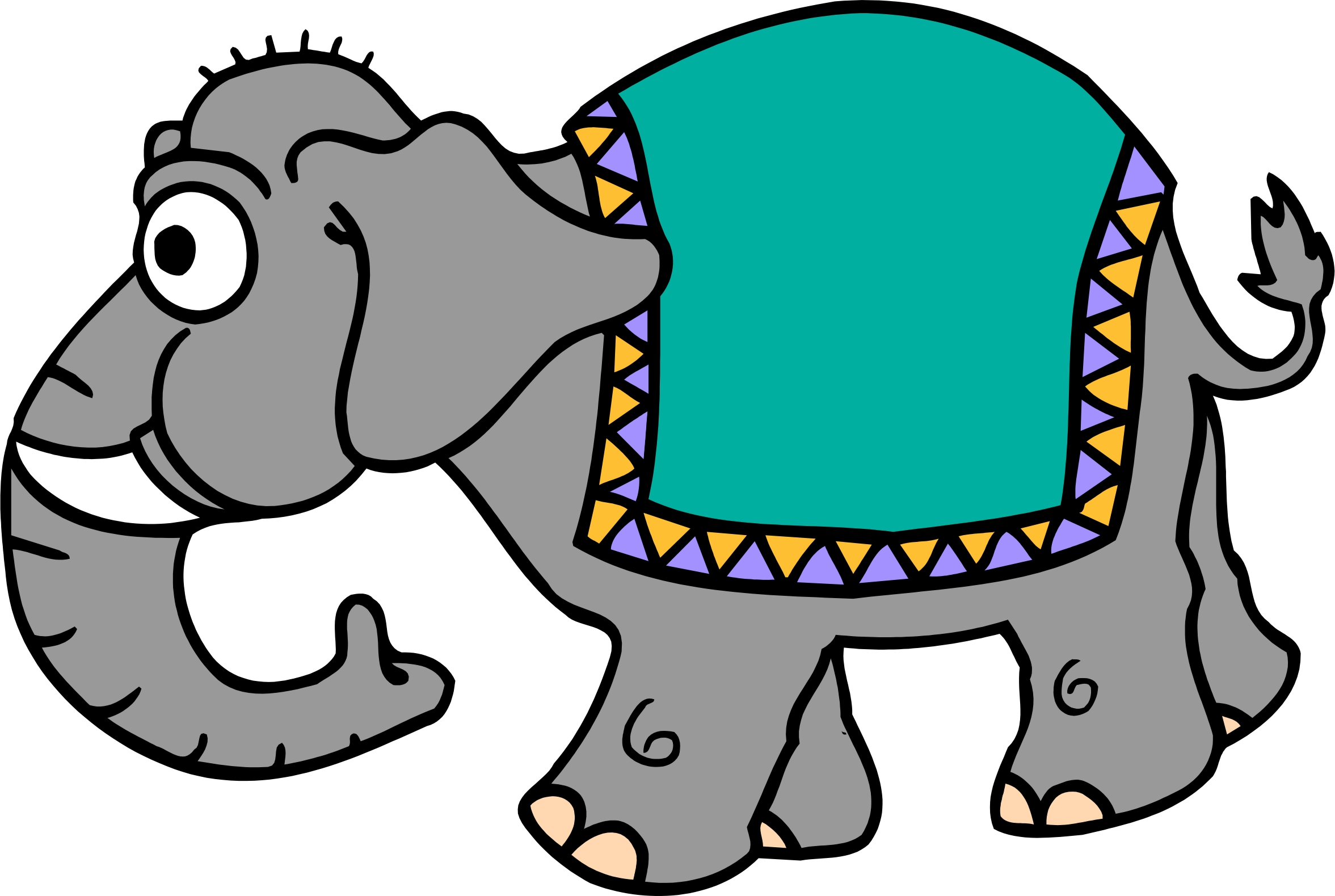 3d elephant clipart graphic black and white download Free Elephants Cartoon, Download Free Clip Art, Free Clip Art on ... graphic black and white download