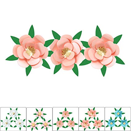 3d flowers clipart craft banner transparent download DIY Giant Decorations Paper Flowers - Handmade Pearl Cardstock Craft Decor  for Wall Baby Room 3D Hanging Flower, Birthday Decor, Wedding, Nursery, ... banner transparent download