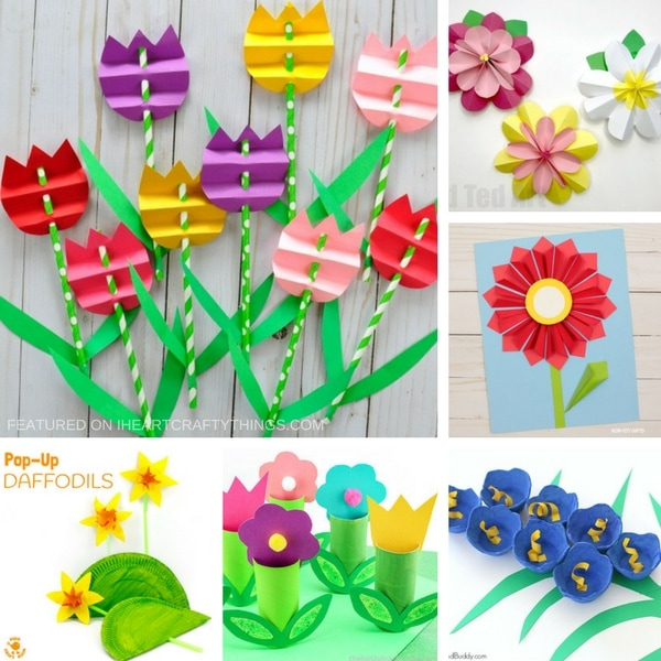 3d flowers clipart craft graphic library library Beautiful 3D Flower Crafts for Kids graphic library library