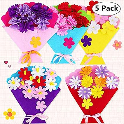 3d flowers clipart craft image transparent download Amazon.com: 5 Pack DIY 3D EVA Foam Flower Bouquet Kit, Magnoloran ... image transparent download