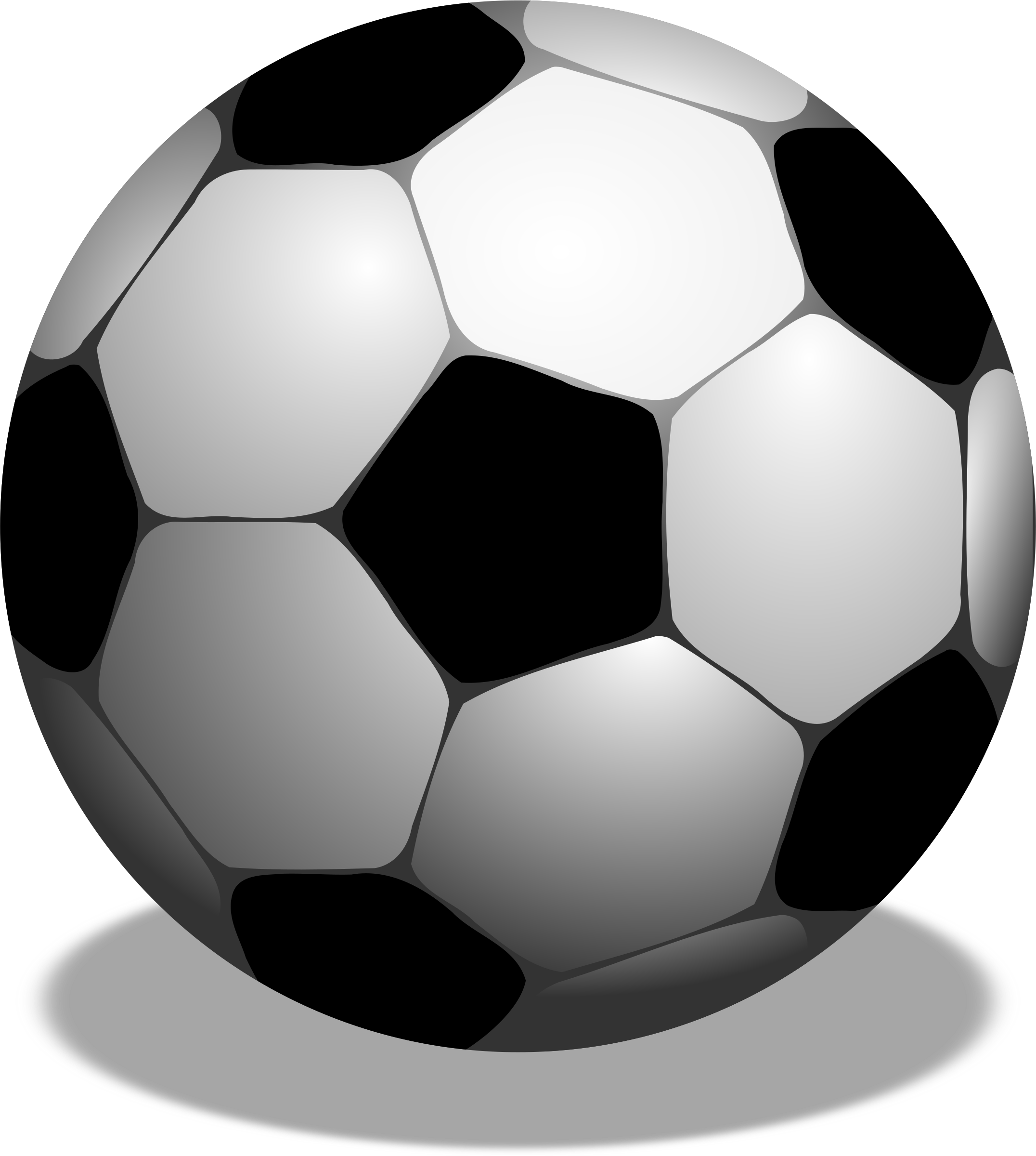 3d football clipart image black and white stock Clipart - Football, futbolo kamuolys image black and white stock