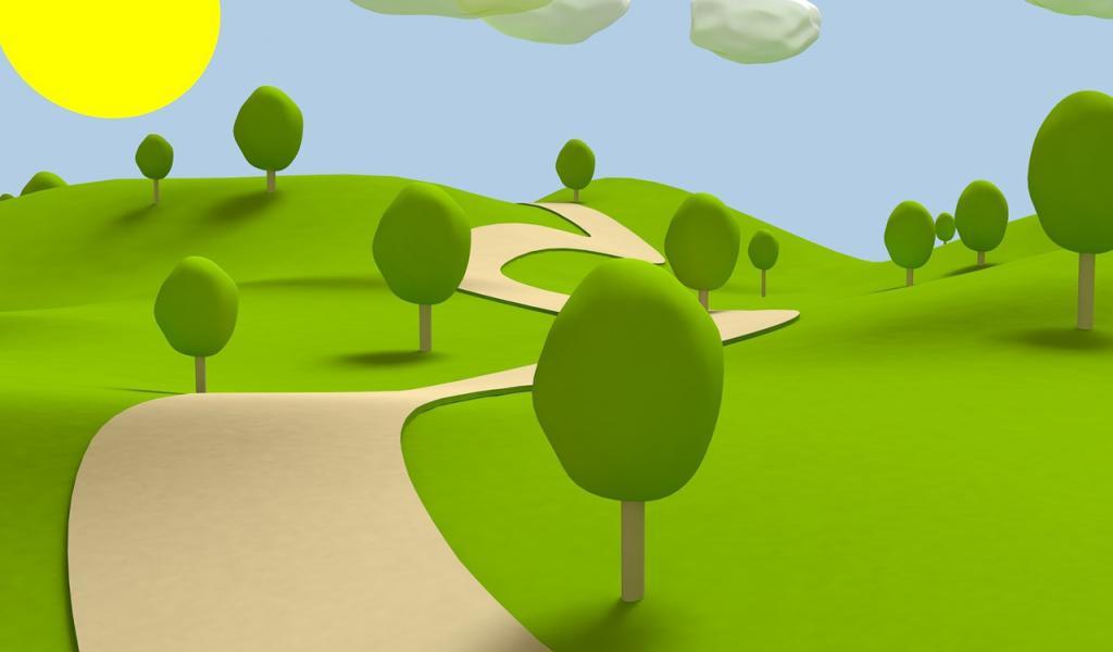3d garden clipart clipart 3d Clipart park 4 - 1024 X 600 Free Clip Art stock illustration ... clipart