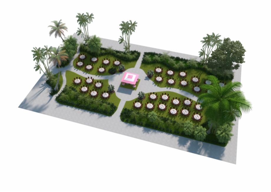 3d garden clipart clip royalty free library Garden Patio Banquet Set-up 3d Floorplan - Yard Free PNG Images ... clip royalty free library