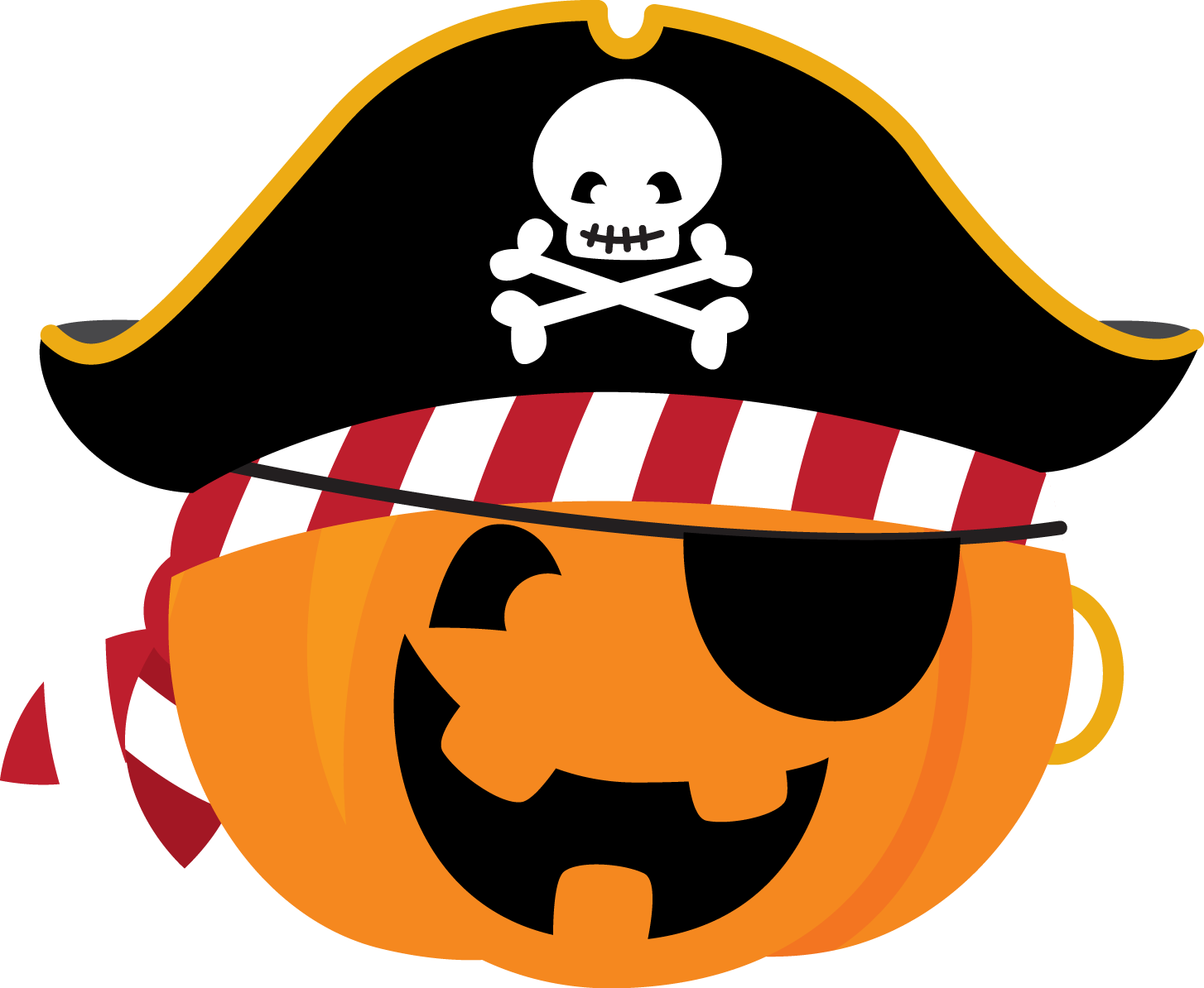 Pumpkin pirate clipart jpg freeuse library cute-halloween-clipart-346.png (1454×1194) | Dibujos y láminas ... jpg freeuse library