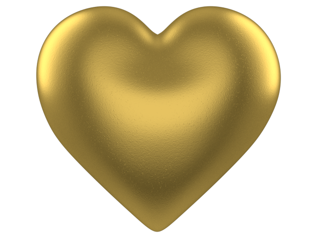 Gold foil heart clipart
