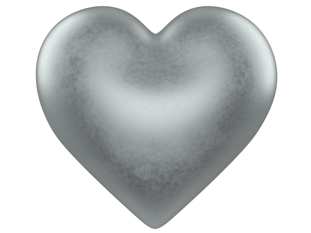 Love heart clipart black and white png free Silver 3d Love Heart With Transparent Background Valentine Clip Art ... png free