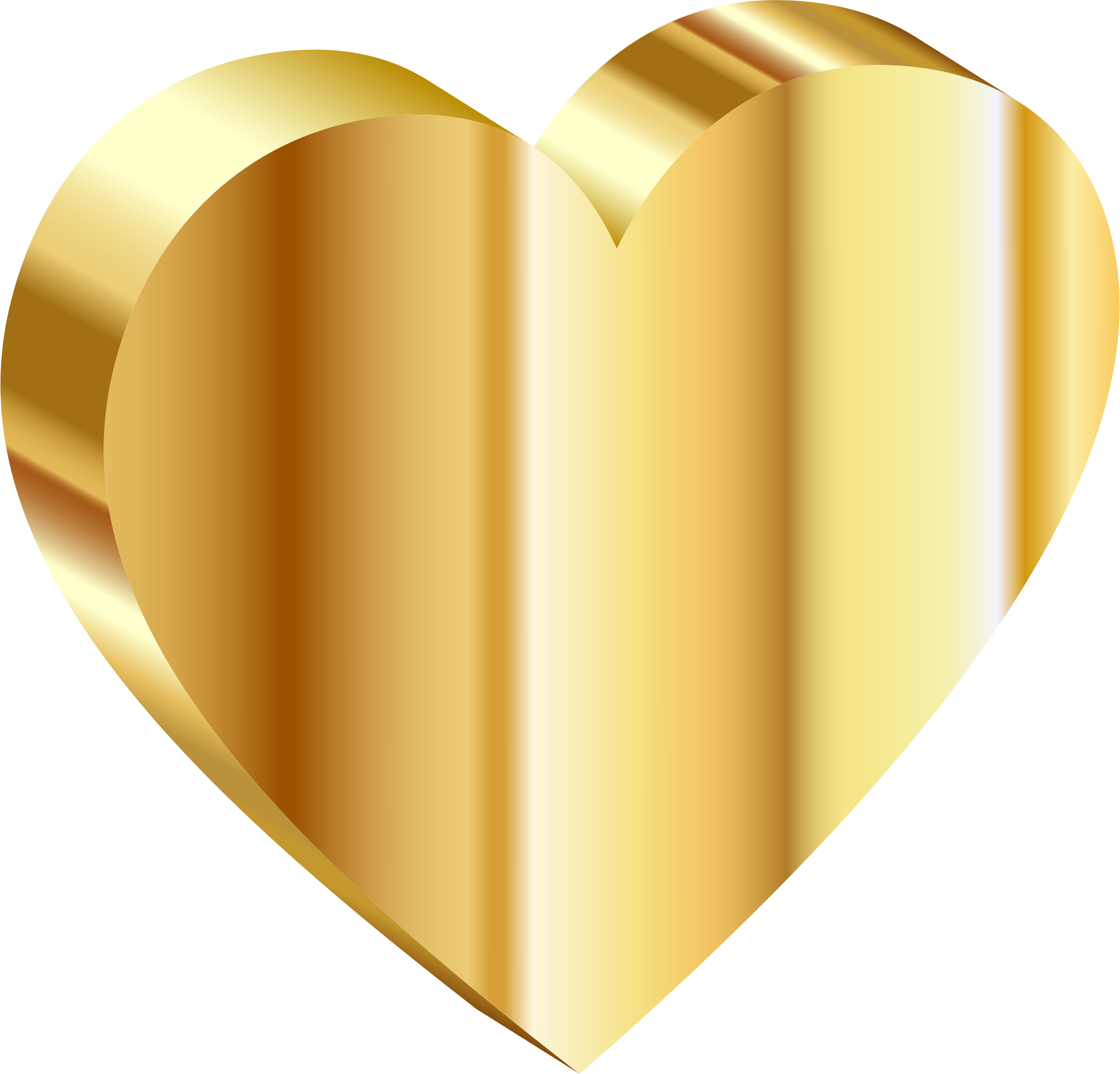 Gold heart clipart image transparent stock Clipart - 3D Heart Of Gold image transparent stock