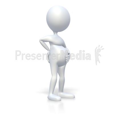 3d stick man clipart image transparent stock Pregnant Stick Figure - 3D Figures - Great Clipart for Presentations ... image transparent stock