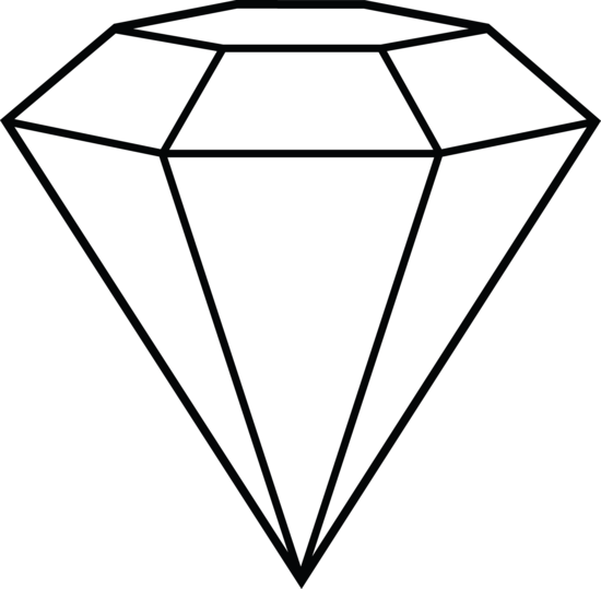 Diamond line clipart picture free stock Diamond Line Art - Shape Inspiration | Diamond Hat | Diamond drawing ... picture free stock
