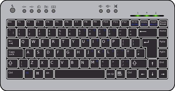 d clipartfest. 3d keyboard computer clipart