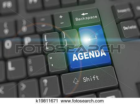 3d keyboard computer clipart. Of d word agenda