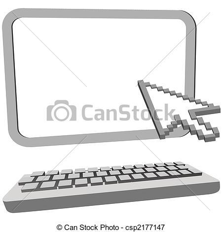 Vector Clip Art of 3D Desktop Computer - Computer with Monitor ... svg free