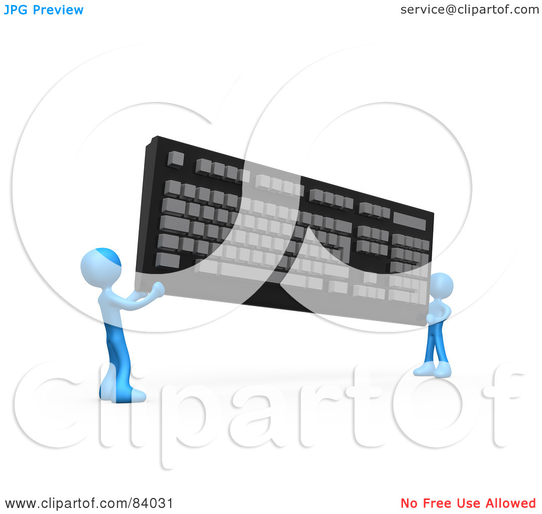 3d keyboard computer clipart - ClipartFest clip freeuse