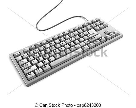 d clipartfest csp. 3d keyboard computer clipart