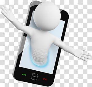 3d phone clipart vector black and white library 3d Man Phone transparent background PNG cliparts free download ... vector black and white library