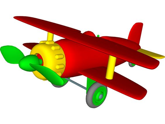 3d max clipart image cartoons airplanes | Airplane Toy 3D Model for 3ds Max, Maya ... image