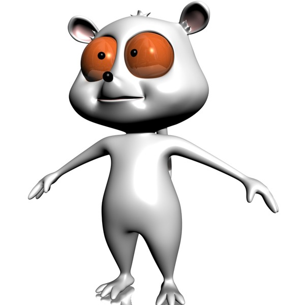 3d max clipart. Lemur character toon rigged