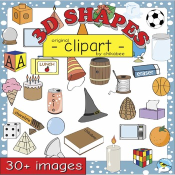 3d objects clipart clip library stock 3D Shape Clip Art: shapes and real-life objects clip library stock