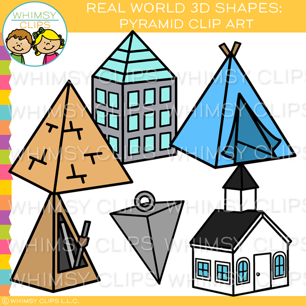 3d objects clipart freeuse stock Real World 3D Pyramid Clip Art freeuse stock