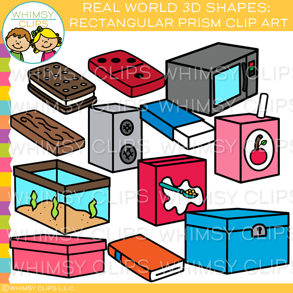 Wooden rectangular prism clipart clip art freeuse library Real World 3D Rectangular Prism Clip Art clip art freeuse library