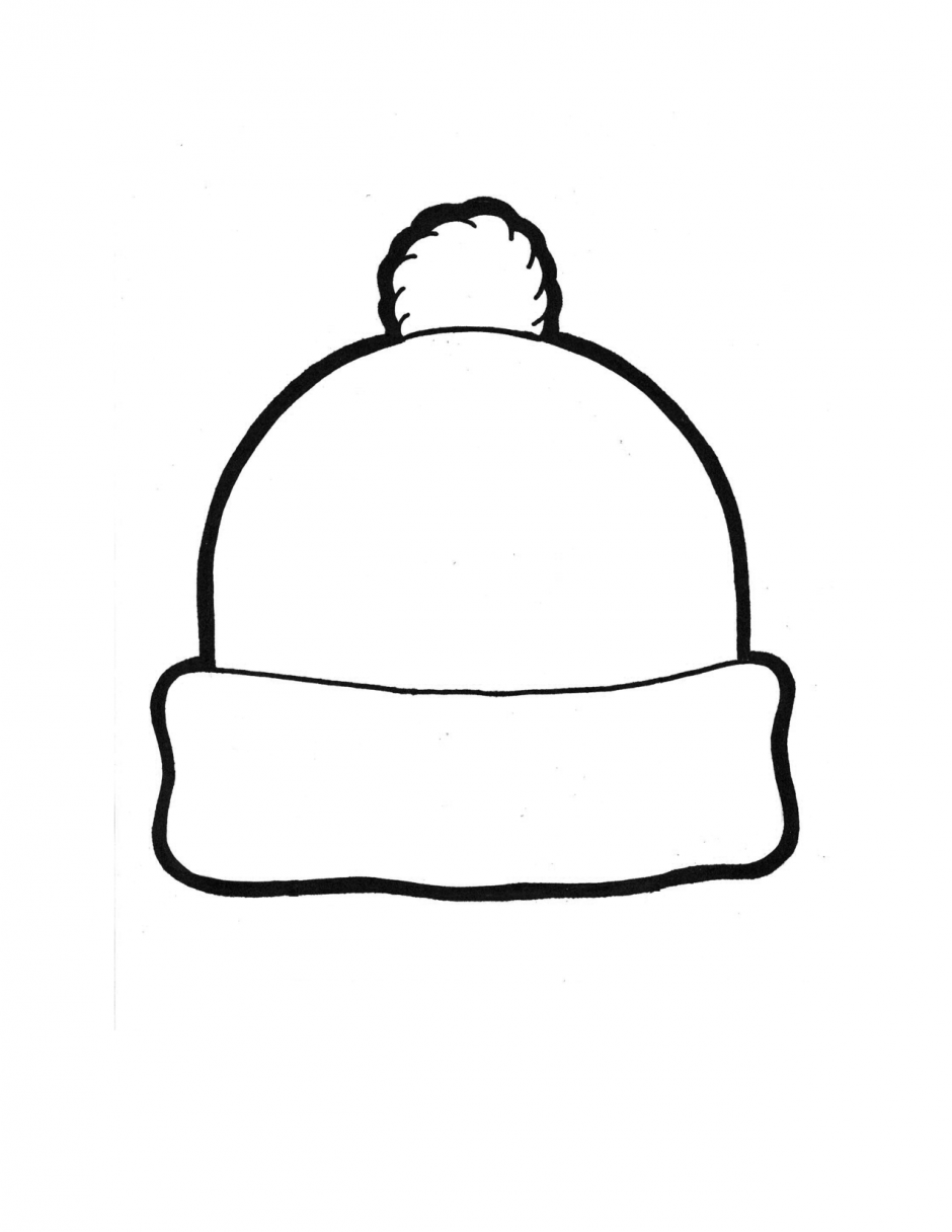 3d paper snow cap clipart clipart freeuse Winter Hat Template Coloring Page January Striking   First grade ... clipart freeuse