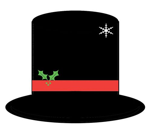 Snowman hat clipart free banner transparent download Printable Snowman Hat Pattern | ... rendition of the hat that Frosty ... banner transparent download