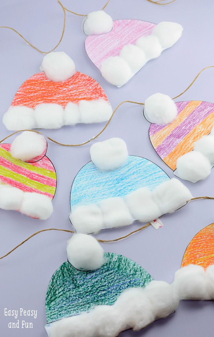 3d paper snow cap clipart graphic download Winter Hats Craft for Kids - Perfect Classroom Craft   Epic ... graphic download