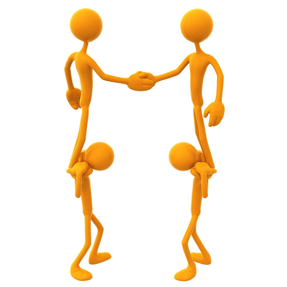Teamwork free stock photo. 3d people clipart border