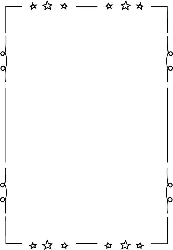 free printable clip art borders for teachers | Loopy Star Page ... clip art library library