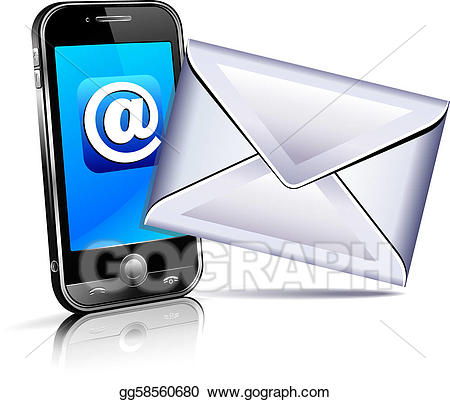 3d phone clipart picture royalty free download Vector Art - Send a letter icon, mobile phone 3d. Clipart Drawing ... picture royalty free download