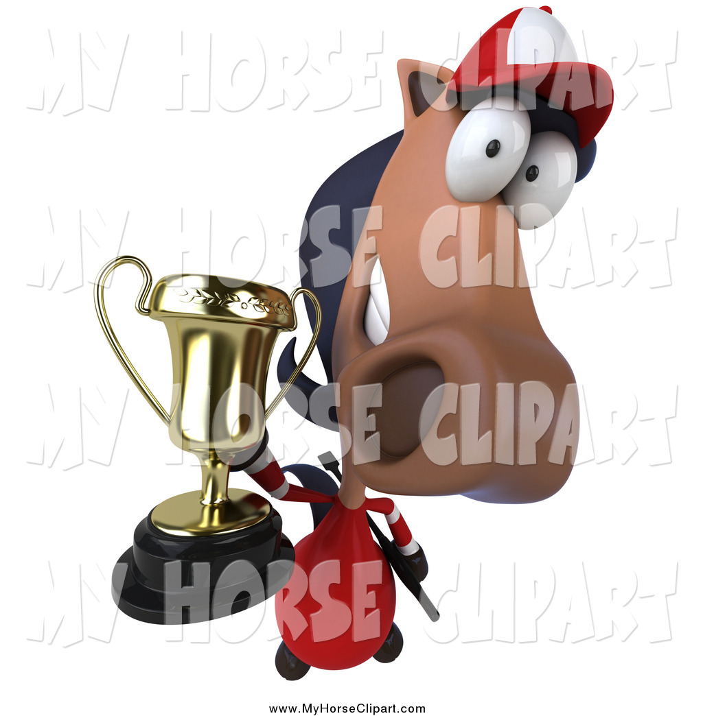 3d polo clipart svg Clip Art of a 3d Polo Horse Holding up a Trophy by Julos - #822 svg