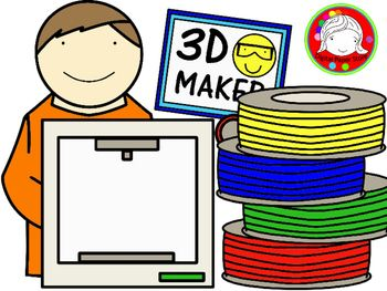 3d printing clipart clip art transparent library 3D Printing Kids Clipart (Personal & Commercial Use) | Digital Paper ... clip art transparent library