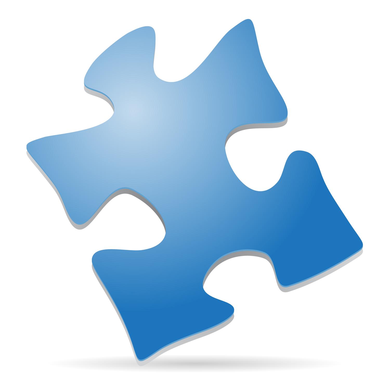 3d puzzle free clipart image Tags Blue Puzzle Piece Standing Corner 3d Symbol Autism clipart free ... image