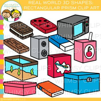 3d rectangle box clipart picture download Real Life Objects 3D Rectangular Prism Clip Art   School clip art By ... picture download