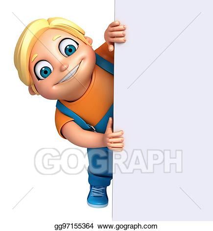 3d render clipart graphic library stock Stock Illustration - 3d render of little boy with white board ... graphic library stock