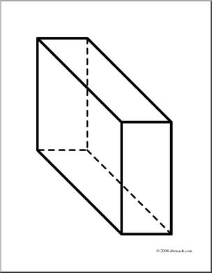 3d shapes clipart black and white rectangular prism graphic transparent stock Clip Art: 3D Solids: Rectangular Prism (coloring page) I abcteach ... graphic transparent stock
